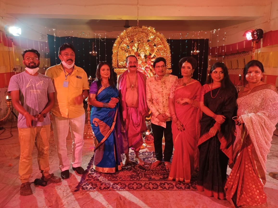 From the Sets of upcoming Odia Durga Bhajan for K1 Productions composed by Abhijit Dada.  #DurgaPuja #DevotionalMusic