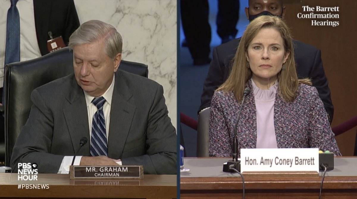 Today is day three of #SCOTUSHearings for Amy Coney Barrett, Donald Trumps Supreme Court nominee. This is not normal. These hearings are being held DURING an election (& pandemic), while the Senate is closed, in order to install a Justice who will gut civil rights protections.