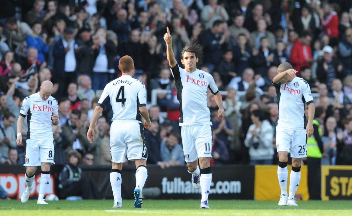 Image for the Tweet beginning: First Fulham goal?   Yeah, just