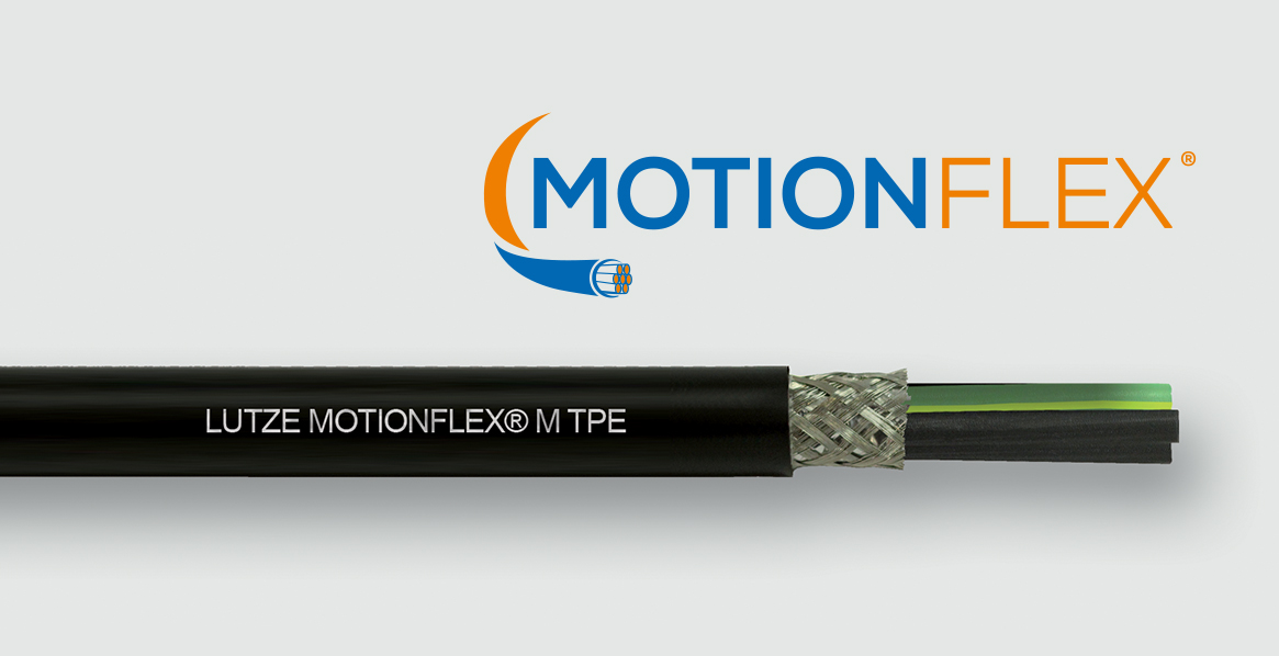LUTZE Introduces MOTIONFLEX® Motor Supply Cables for Flexing and Twisting...