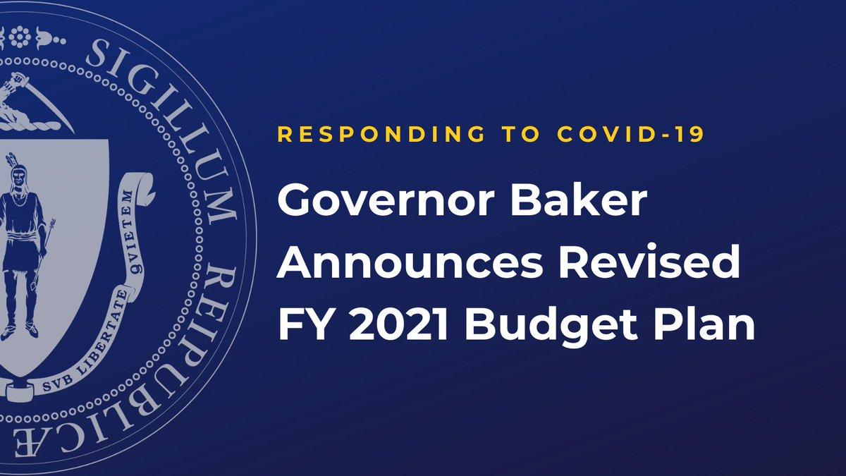 Today we updated our FY 2021 budget plan. Like all other states, #COVID19MA has created budget uncertainties for MA.  Thanks to responsible budget management, we are well-positioned to respond with a plan that supports Main Street economies and schools - without raising taxes. https://t.co/fq9Gq2zBG9