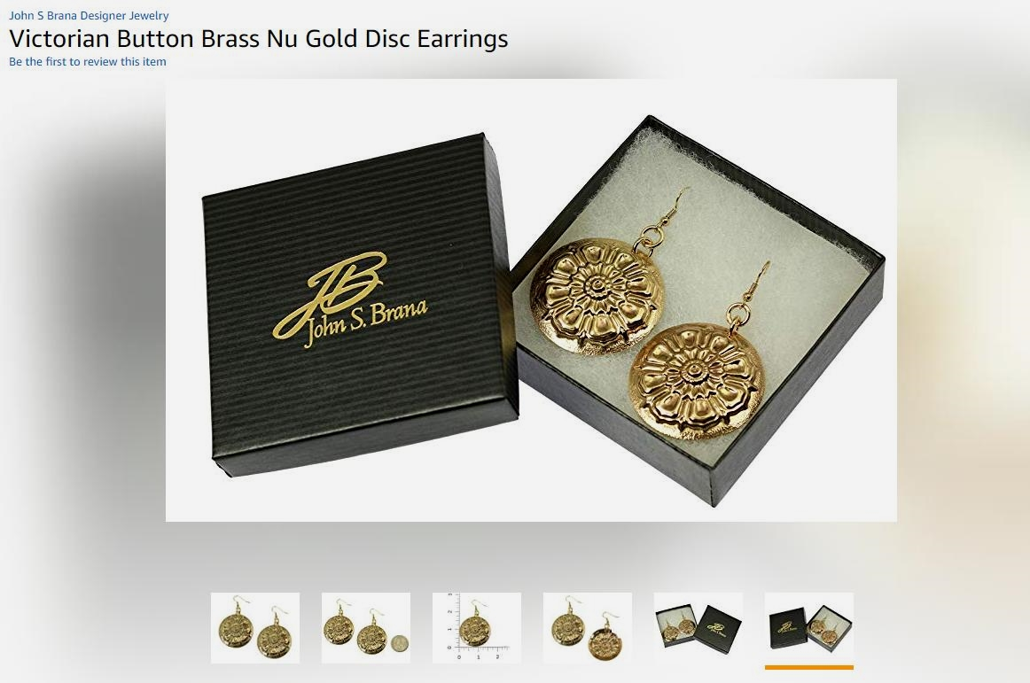 Just Listed Cool Victorian Button Gold Disc Earrings Presented by #AmazonPrime #LargeEarrings https://t.co/yQiXXtVCLN #JohnSBrana https://t.co/cEq2e1Lbv3