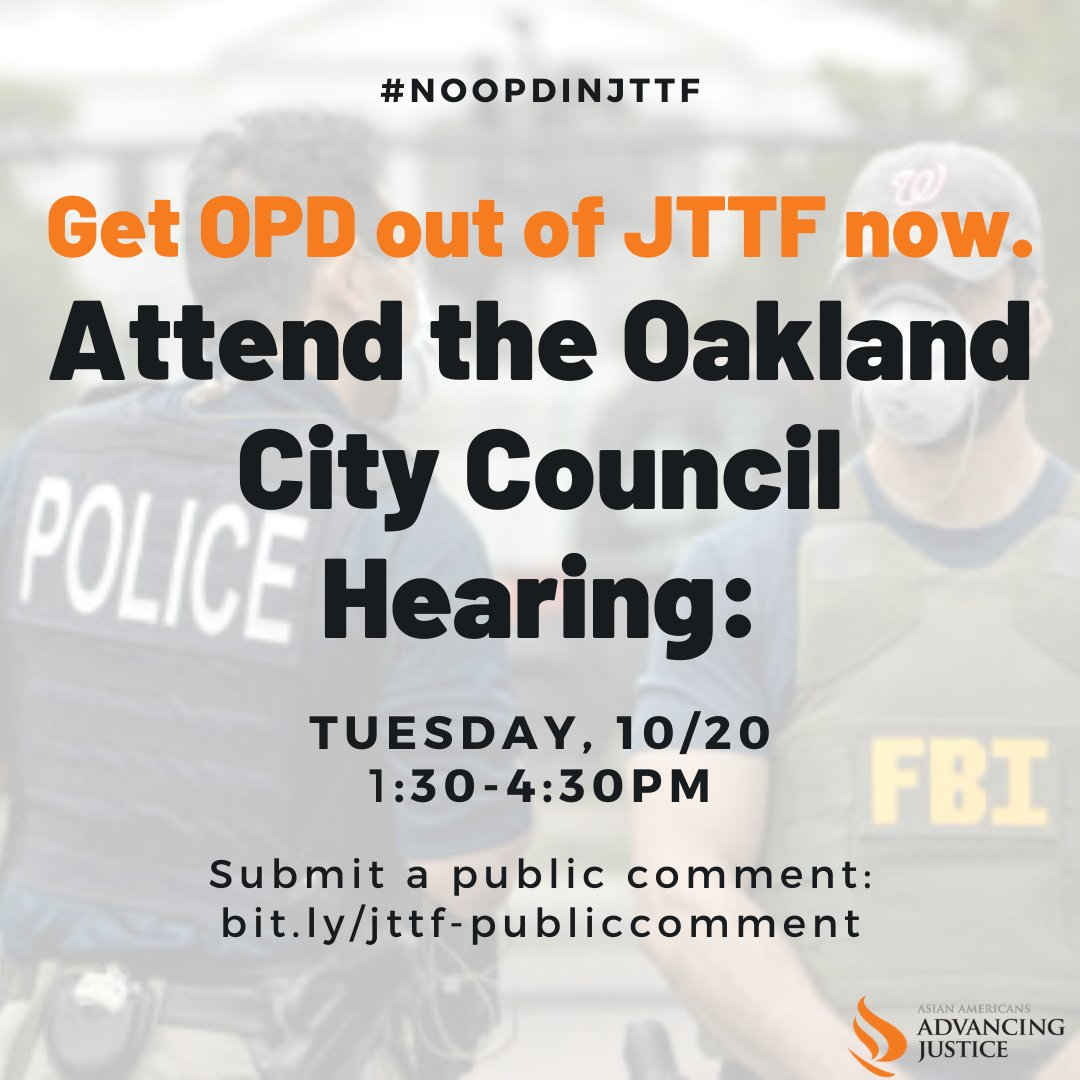 Oakland out of Joint Terrorism Task Force (JTTF) @ Online
