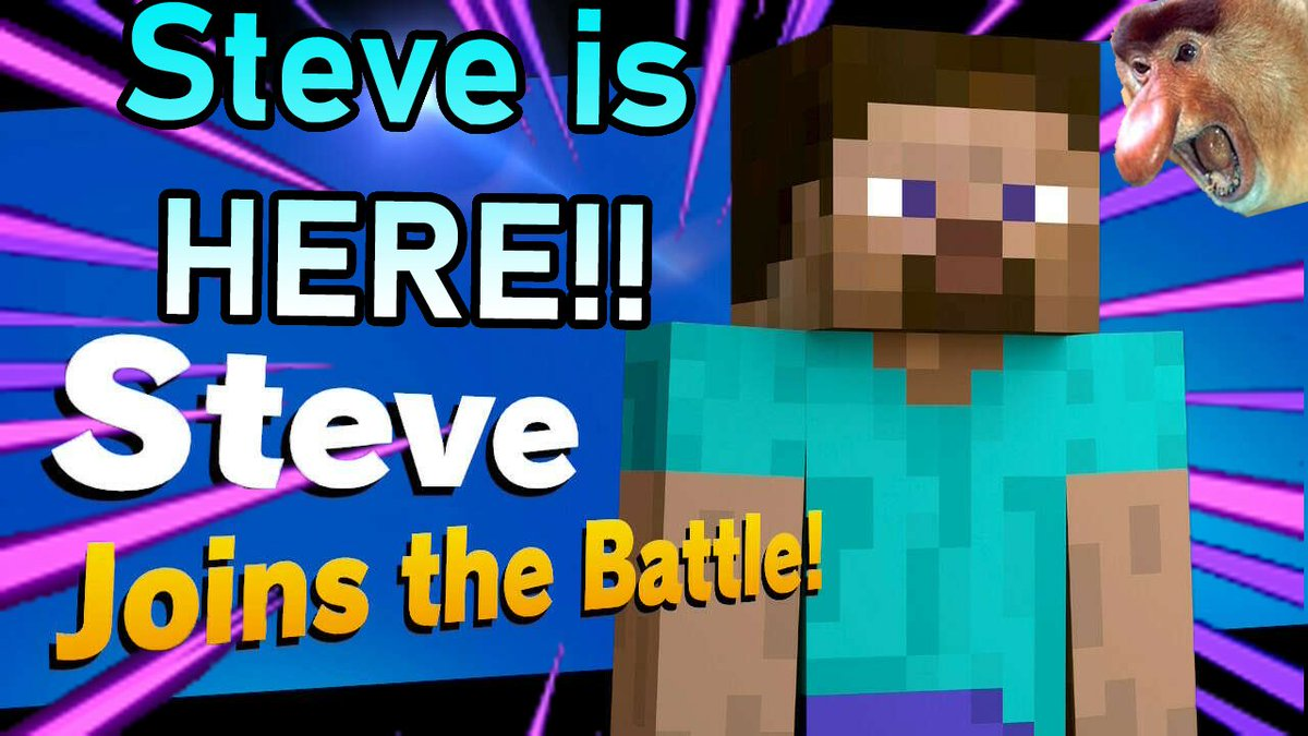 Steve is here!!! Go check out my video playing around with this crazy character!! (also yes, my thumbnail making skills are next to none)  https://t.co/x0LyDEt7p3  #smallyoutuber #smallyoutubersupport #smallyoutubechannel @SmallYoutube @LetsGrow_SC @MeetNewYoutube @_NewYoutubers https://t.co/tVG8CGZI8m