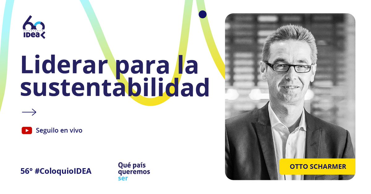 This program, while in spanish, does feature a #keynotepresentation, in English from @ottoscharmer1  at 3:56:40. He addresses this current moment of #disruption and crisis and how we as leaders in our various sectors can respond with our fullest capacities: