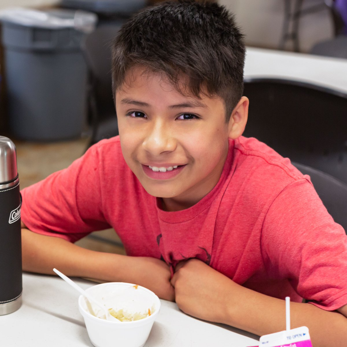 """""""I'd be skipping lunch if it weren't for this. This lunch is a miracle."""" -Oscar, 10  1 in 4 children could face hunger this year, including children relying on meals at school. Read how we are feeding kids, and how you can help. #NationalSchoolLunchWeek https://t.co/lh1KNiG2Ml https://t.co/k6oHLM9wUE"""