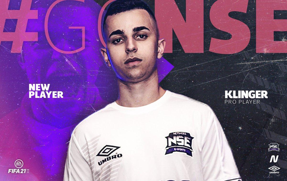 KLINGER É NSE! ⭐  Um dos melhores jogadores do Brasil,  @KlingerCastro7  enfim vai fazer parte da NSE!   Ele participou da seletiva na Copa Netshoes em 2018 e hoje chega com status de craque do cenário brasileiro para nossa line no Xbox One!  Seja bem-vindo, Klin!  #GoNSE https://t.co/zqwP617oA0