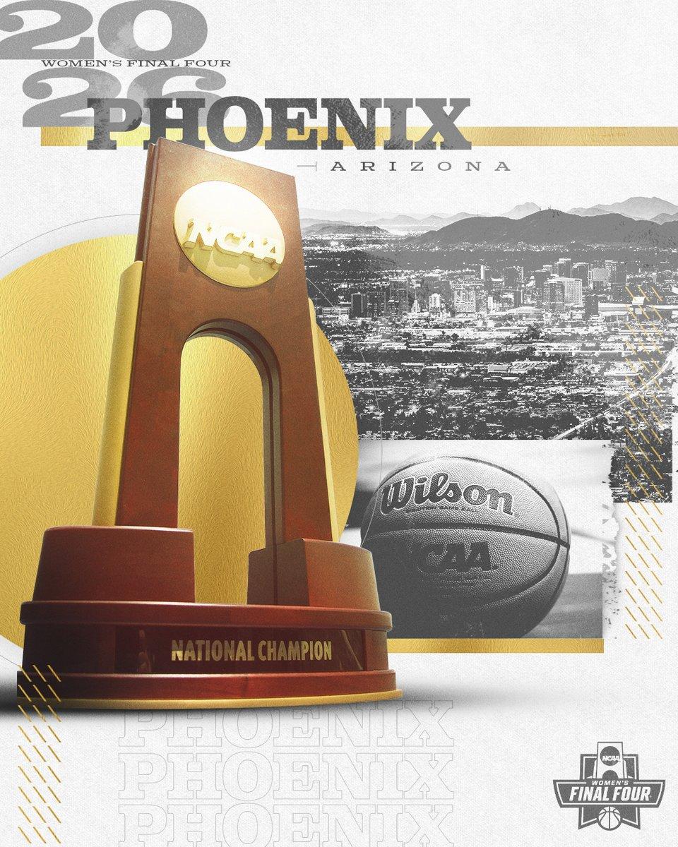 The host of the 𝟮𝟬𝟮6 Women's Final Four is Phoenix, AZ! #WFinalFour #NCAAHost
