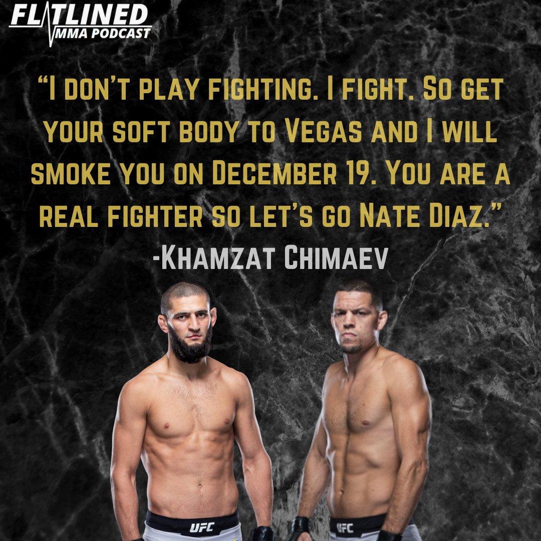 "Khamzat calls out ""real fighter"" Nate Diaz for a scrap in December. How would this fight go down? 🔥👊 . . . #ufc #khamzatchimaev #natediaz #welterweight #kamaruusman #gilbertburns #colbycovington #jorgemasvidal #conormcgregor #danawhite #striking #wrestling #fight #octagon https://t.co/DDkQoaOAHu"