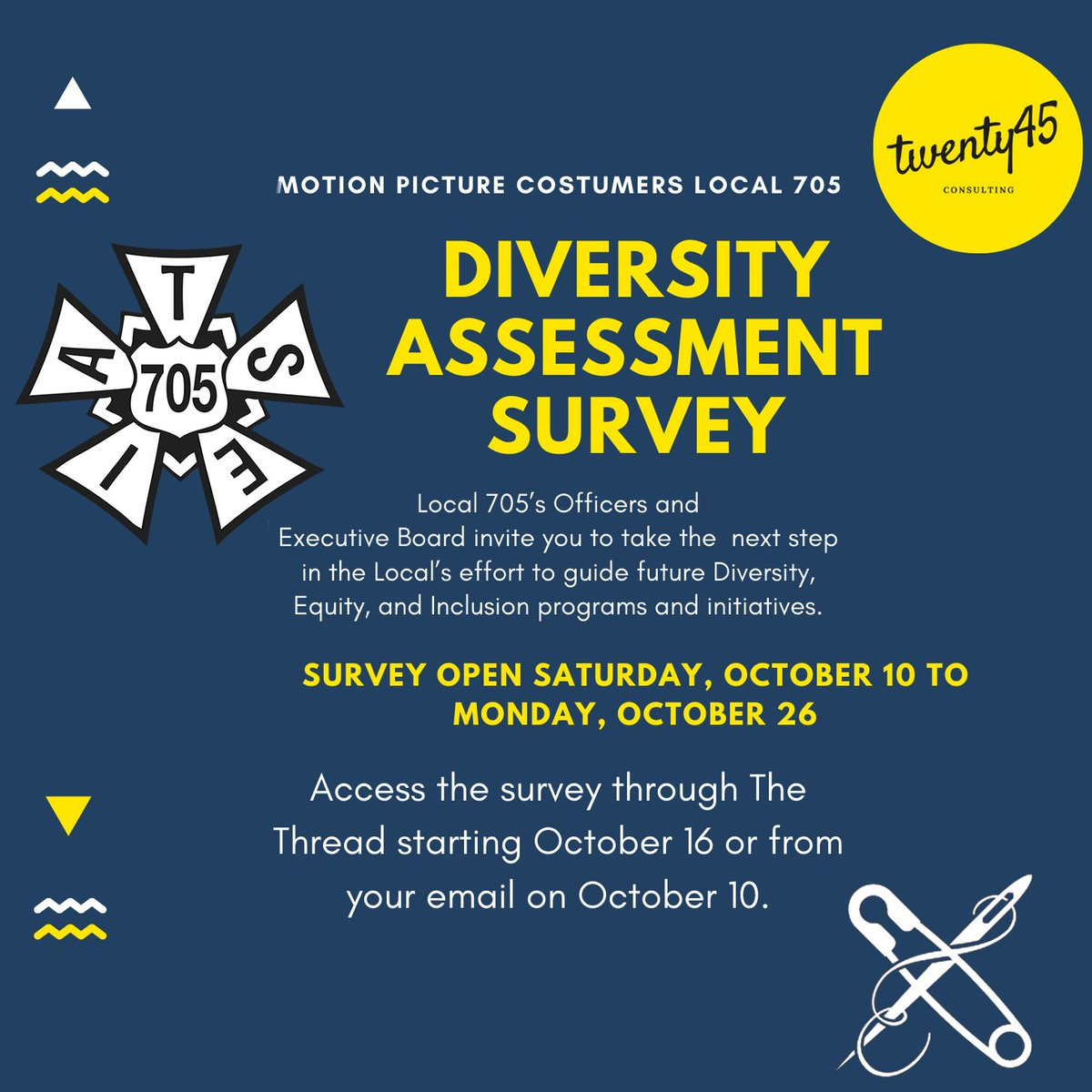 Local 705s Officers and Executive Board invite you to take the next step in the locals effort to guide future diversity, equity and inclusion programs and initiatives.