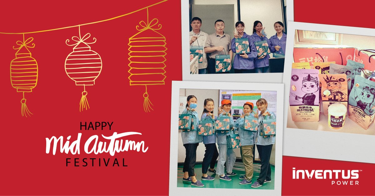 Our China locations recently celebrated the #MidAutumnFestival holiday by providing employees with special gifts & traditional mooncakes. We hope our colleagues enjoyed celebrating with each other and spending some extra quality time with their families! #InventusPowerLife https://t.co/NaKLEN3FP0