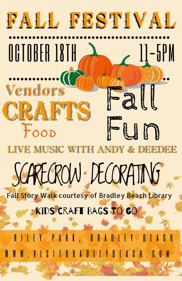 Who is ready for some #fall fun & great sales? Head to #BradleyBeach for an outdoor festival and #sidewalksale on Sunday! If you're up to it, take a stroll on the boardwalk while there! 🎃🛍 #MonmouthCounty #NJ https://t.co/23Kc1040Su