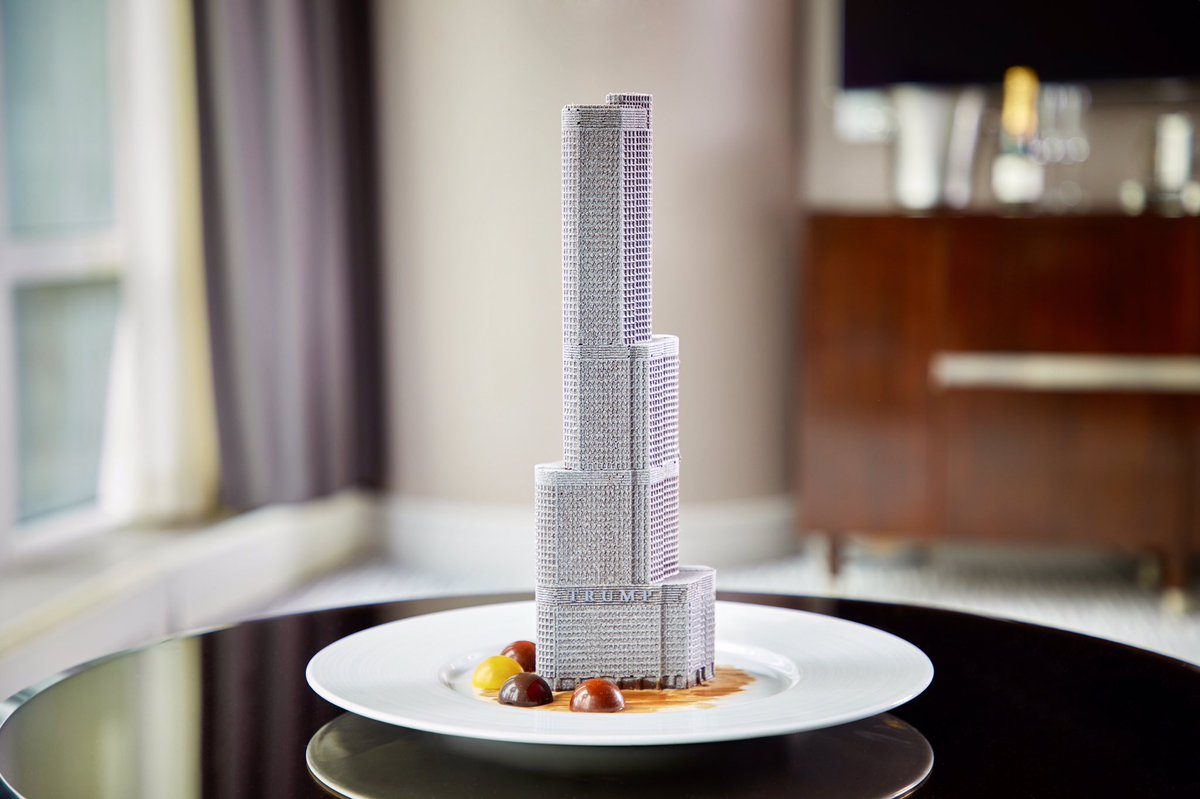 This @TrumpChicago Tower is crafted entirely of chocolate, and you would never know. #DessertDay