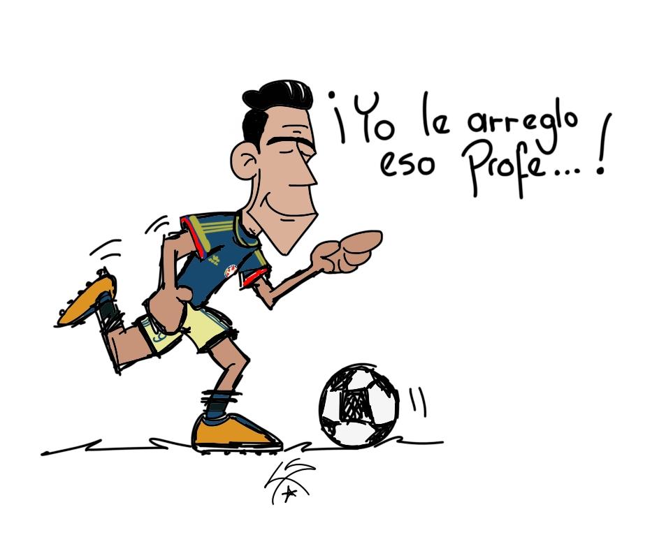 Y el tigre entró a arreglar el asunto ! Grande @FALCAO !!! #VamosColombia 🇨🇴⚽️!!! #DibujosDeServilleta