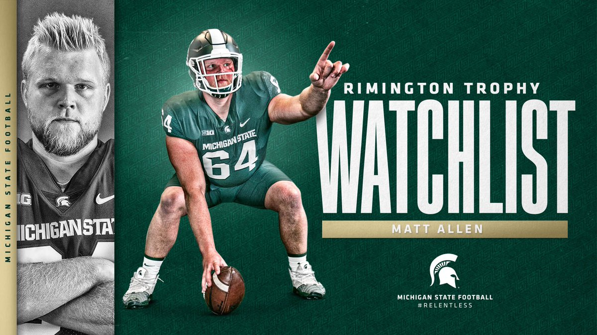 Congratulations to @mjallen65 on being added to the Rimington Trophy Watchlist 👊