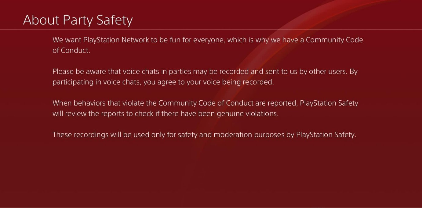 """The PS4 has been updated to accomodate a security feature on the PS5, enabling voice chat recording """"for safety and moderation purposes."""""""