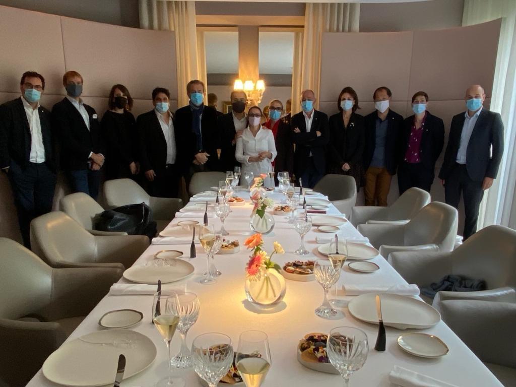 #LesGrandesTablesduMonde's board of directors met today at @AnneSophiePic restaurant in Valence.  Le Conseil d'Administration de l'association s'est retrouvé aujourd'hui chez Maison Pic à Valence. https://t.co/z68mJzUis7