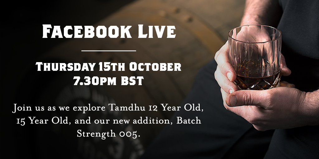 Don't forget that the next in our series of celebrated virtual tastings takes place this Thursday 15th October.  Join us for a taste of Tamdhu at home from 7:30pm BST on Facebook Live and Youtube.  Hope to see you there. 🥃 https://t.co/SGnbjy1Bwp