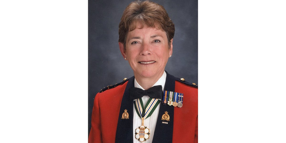 This #WomensHistoryMonth, we celebrate Bev Busson, who enjoyed a career of firsts in the #RCMP. As one of the first female police officers and the first female Commissioner, she blazed a trail for countless women. #BecauseOfYou