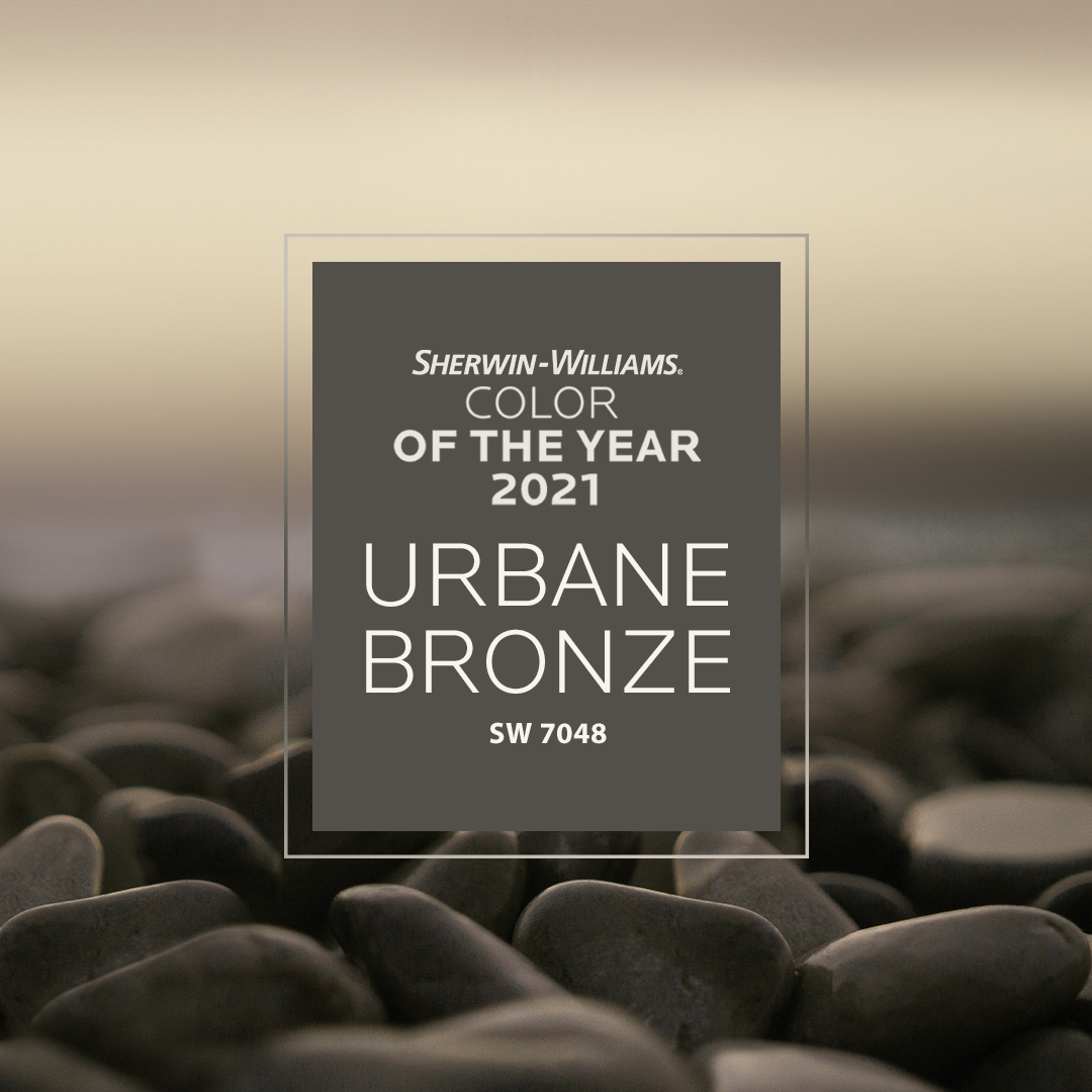 Create your own nature-inspired sanctuary with our 2021 Color of the Year, Urbane Bronze. Complete the look with coordinating colors like Modern Gray SW 7632 and Messenger Bag SW 7740. Find more inspiration: https://t.co/Ph3RdFmH7W #SWColoroftheYear #sherwinwilliams #diy #paint https://t.co/OpzhTUPQ3i