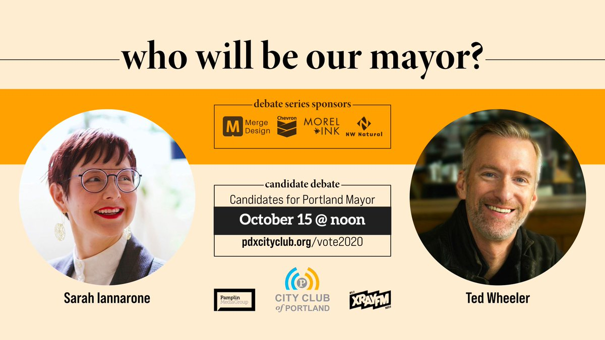 Today at 12pm—tune in live using the link below! #PDXMayor2020  https://t.co/KjPECaedcm
