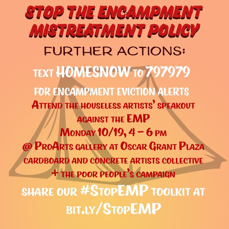 Stop Encampment Mistreatment @ Oscar Grant Plaza