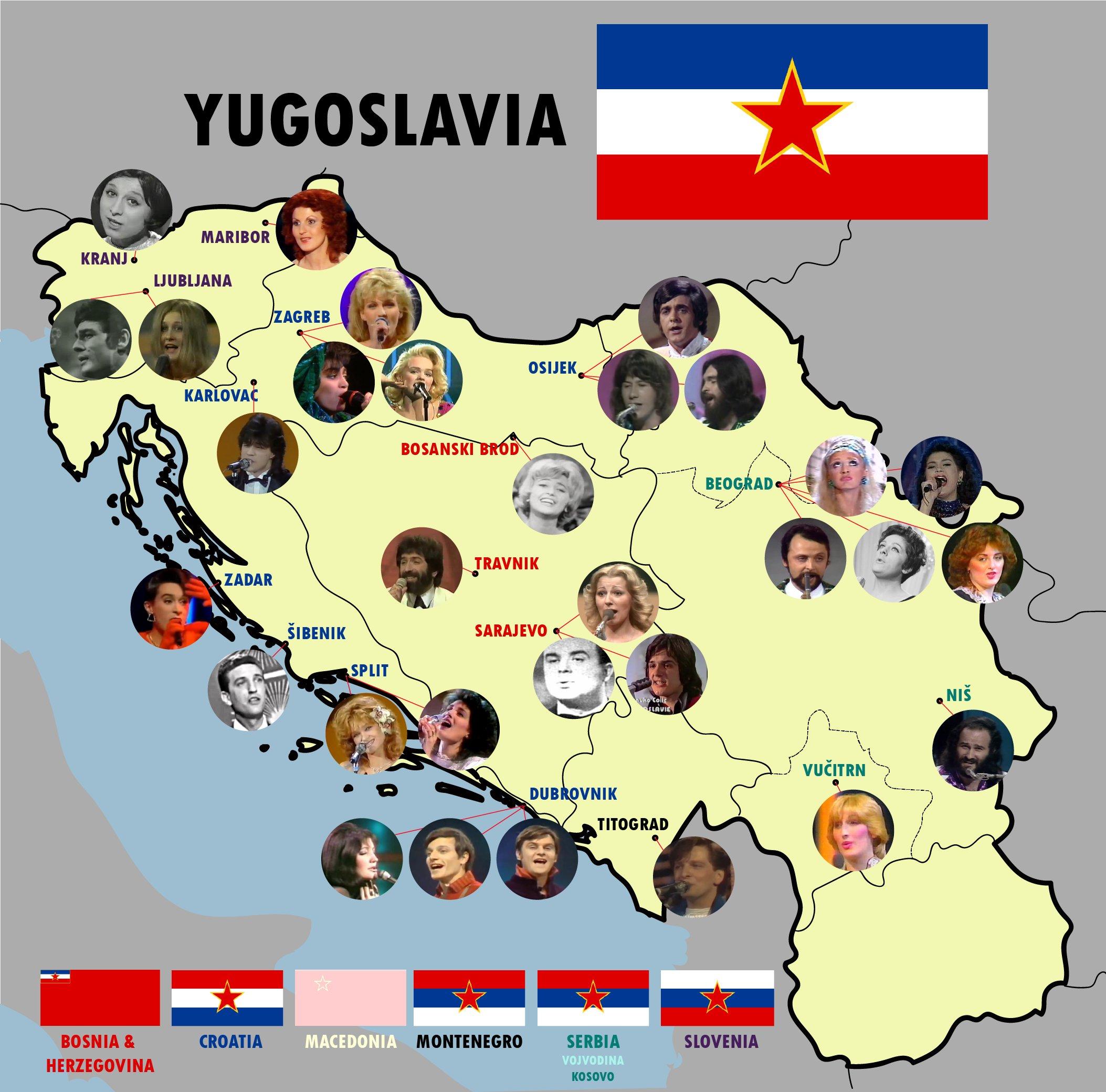 Jugoslaviens ESC-artister