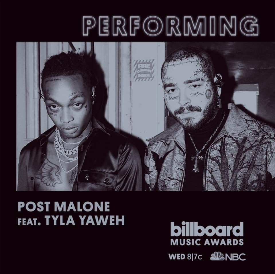 The most nominated artist of the night, @PostMalone, is performing TONIGHT with @TylaYaweh. 🙌 Don't miss it at 8/7c on NBC! #BBMAs