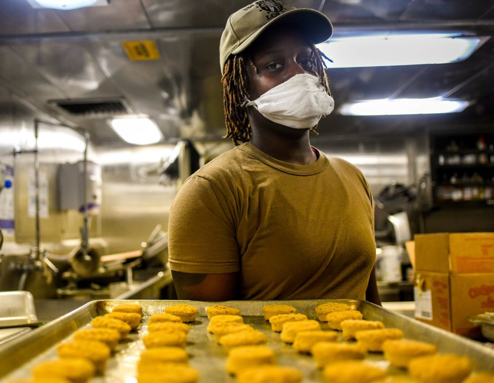 Life is sweet in U.S. 4th Fleet! 🎂🍭🍬 Happy National Dessert day!!! Sailors aboard the USS Detroit and USS Sioux City prepare desserts while deployed to the U.S. 4th Fleet area of operations. #nationaldessertday