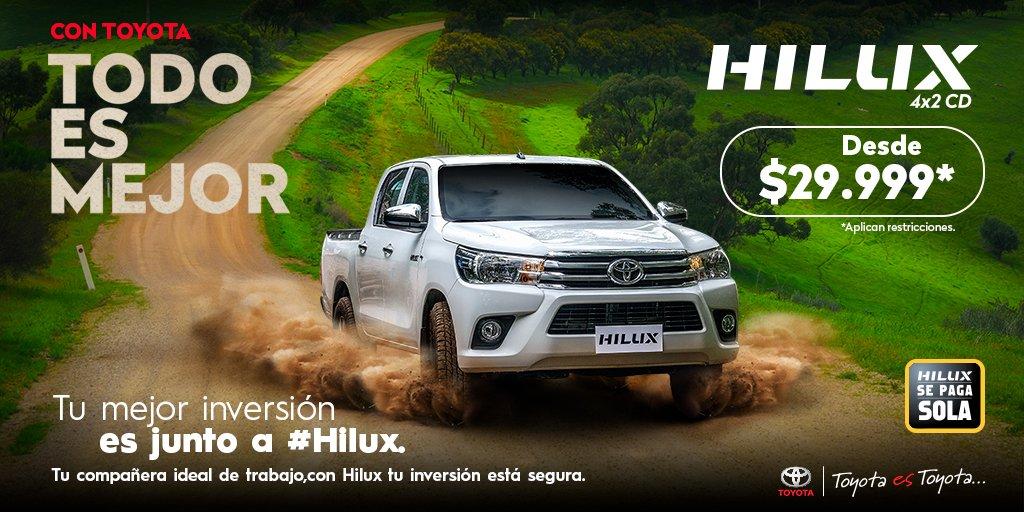 Sin duda alguna  #Hilux es la mejor inversión  La mejor camioneta con rendimiento y durabilidad solo Hilux, encuéntrala desde $29.999* Información de tu Hilux aquí: : https://t.co/C6Qyt2oVpR  #ConToyotaTodoEsMejor y excelente con Hilux. #ToyotaEsToyota https://t.co/IEUMYLPU7R