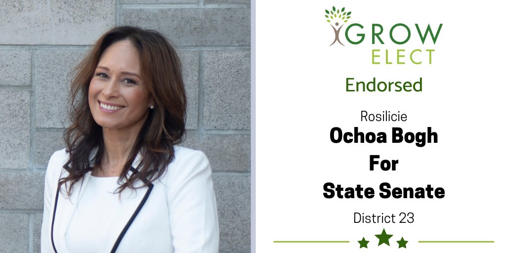 GROW Elect is proud to endorse Rosilicie Ochoa Bogh for State Senate (District 23) in the General Election. She has lived in the I.E. for 29 years and has served on the Yucaipa-Calimesa School Board helping children receive the education they need to succeed. #growelect #endorsed https://t.co/ueyPKFf65q