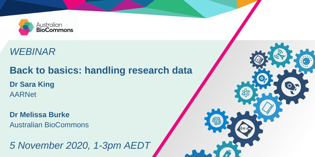 #BigData too big to handle?  @sarasrking is taking us back to basics to see how the internet influences data movement. We'll also get hands-on with some nifty tools for moving #LifeScience data.  Featuring #CloudStor and @AARNet  1-3pm AEDT 5 November https://t.co/tDggjmAec9 https://t.co/fHMtgJAinY