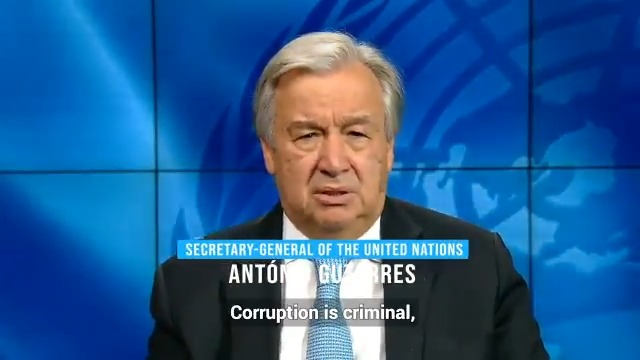 15th October 2020  Corruption is criminal, immoral & the ultimate betrayal of public trust.  It is even more damaging in times of crisis  We must create more robust systems for accountability & transparency without delay.  Antonio Guterres