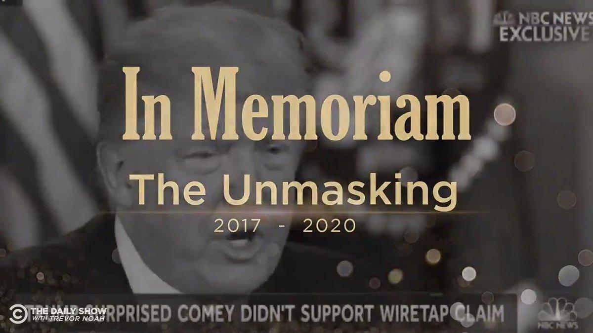 In Memoriam: The Obama Unmasking Scandal, 2017-2020