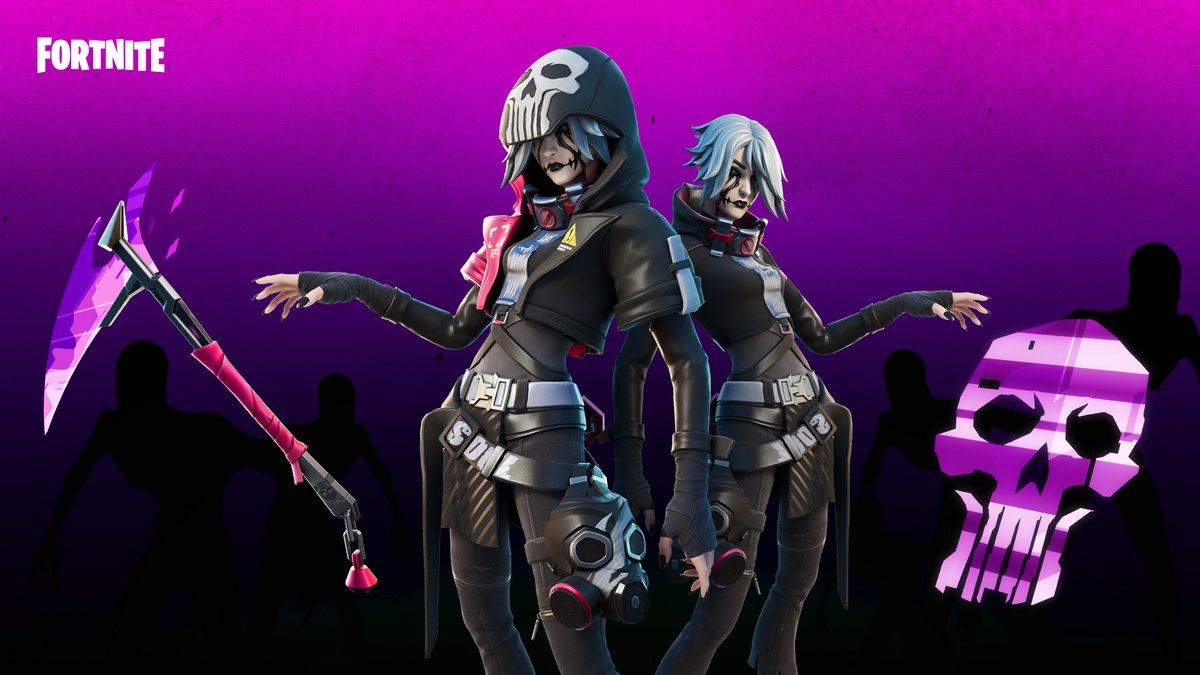 Dressed for destruction with the near future of soul-reaper fashion.  Get the Forsaken Set in the Item Shop now! https://t.co/WfMBFDnfzY