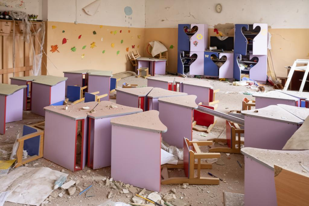 This is not what a school should look like. Hundreds of buildings have been destroyed by heavy artillery fire and missiles during the escalation of the Nagorno-Karabakh conflict. The impact it has on civilians is devastating.