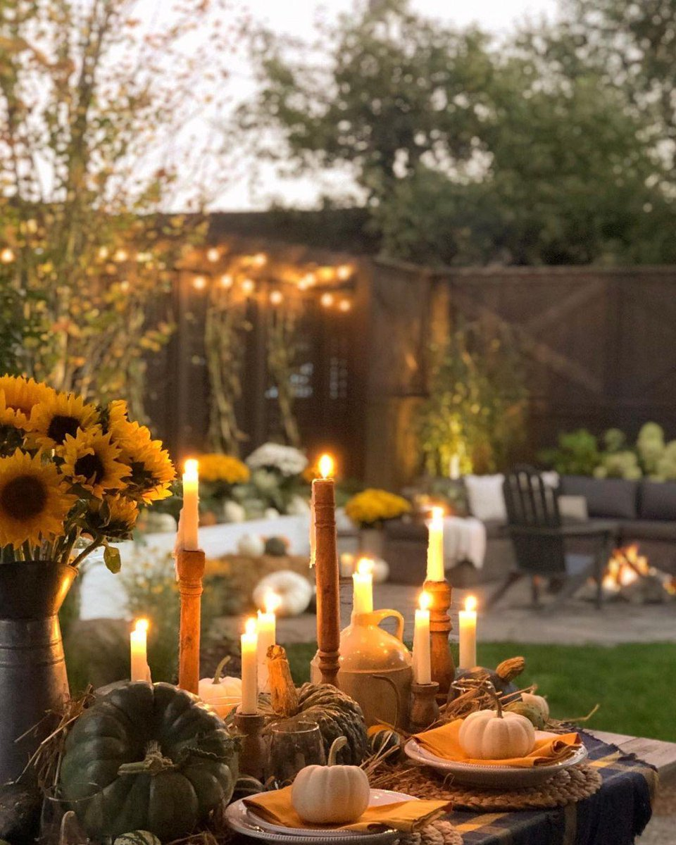 We're inspired by how @ littlehouseonchestnut nailed the outdoor Thanksgiving dining table by mixing handcrafted, natural designs like our Handwoven Water Hyacinth Placemats and Gabriella Stoneware with outdoor elements like pumpkins and produce from her garden 🍽️ #mypotterybarn https://t.co/FbngN5YCzO