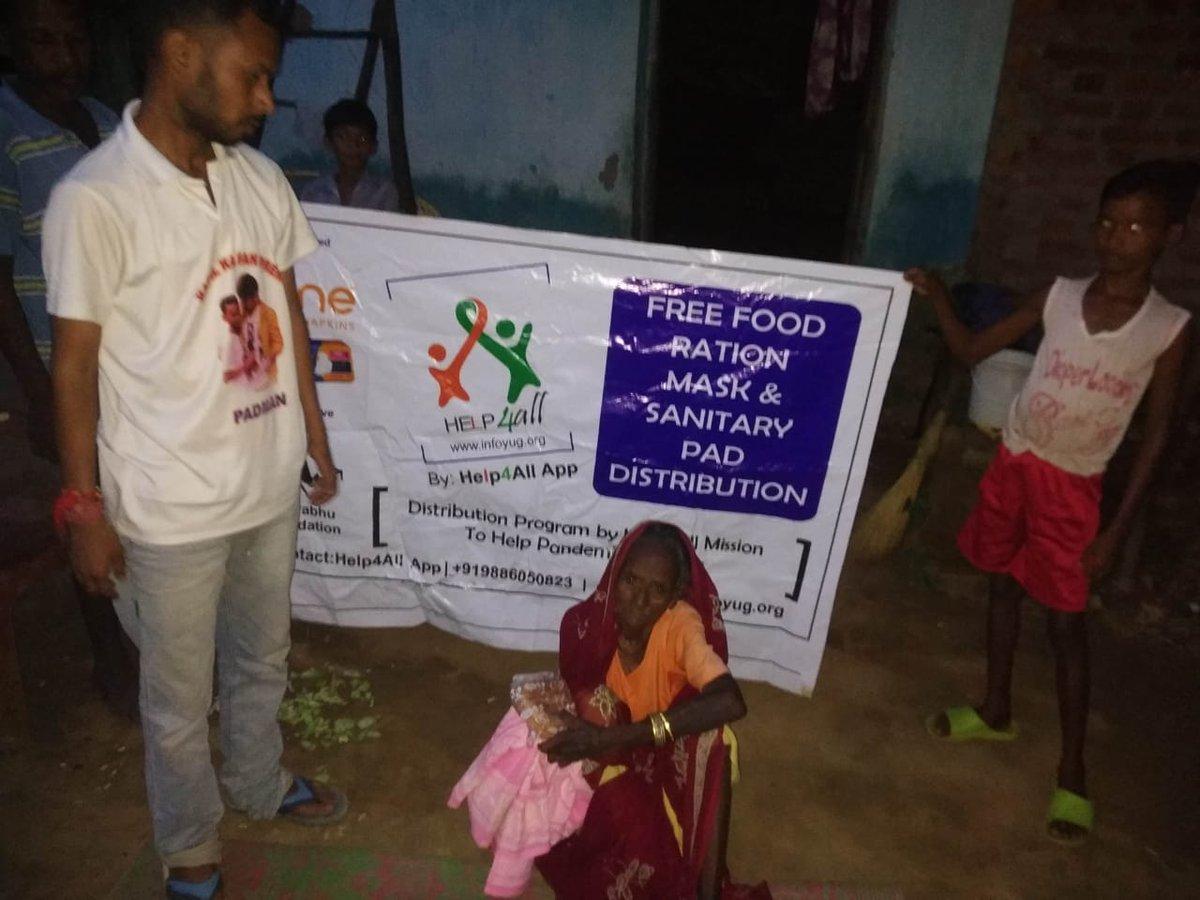 दिन हो या रात @Help4All4 लगातार जरूरत मंद लोगों की मदद के लिए तत्पर रहती है बाबा को और बुजुर्ग महिला को राशन कपड़े देकर उसकी मदद की गई और भी आगे जरूरत मंद परिवार को मदद के लिए @Help4All4 हमेशा उन सबके साथ है बाबा और बुजुर्ग महिला ने बहुत बहुत धन्यवाद आशीर्वाद दिया  है @SonuSood