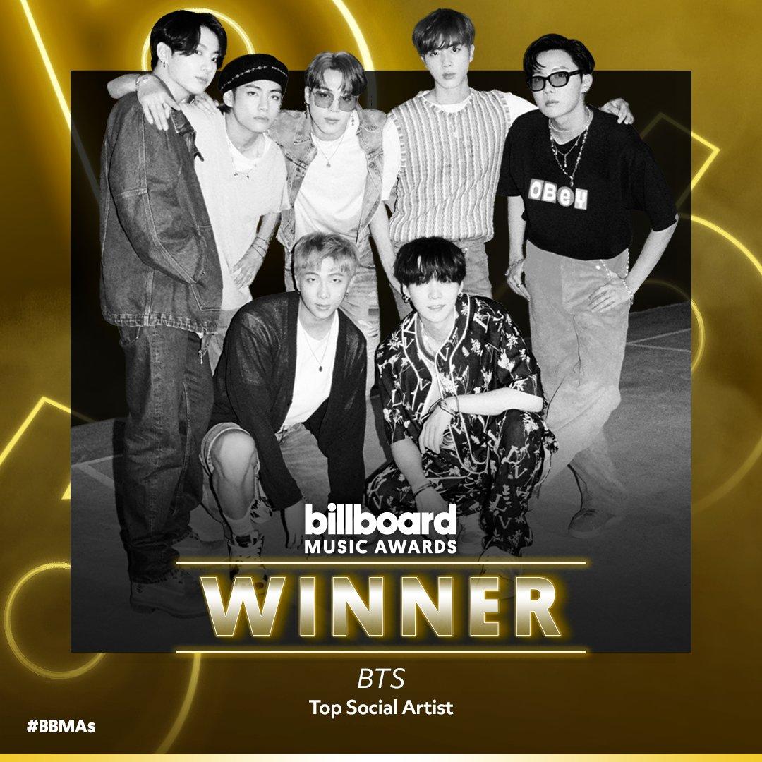 Congratulations to @BTS_twt on winning Top Social Artist! #BTSxBBMAs https://t.co/1FzuMZCF17