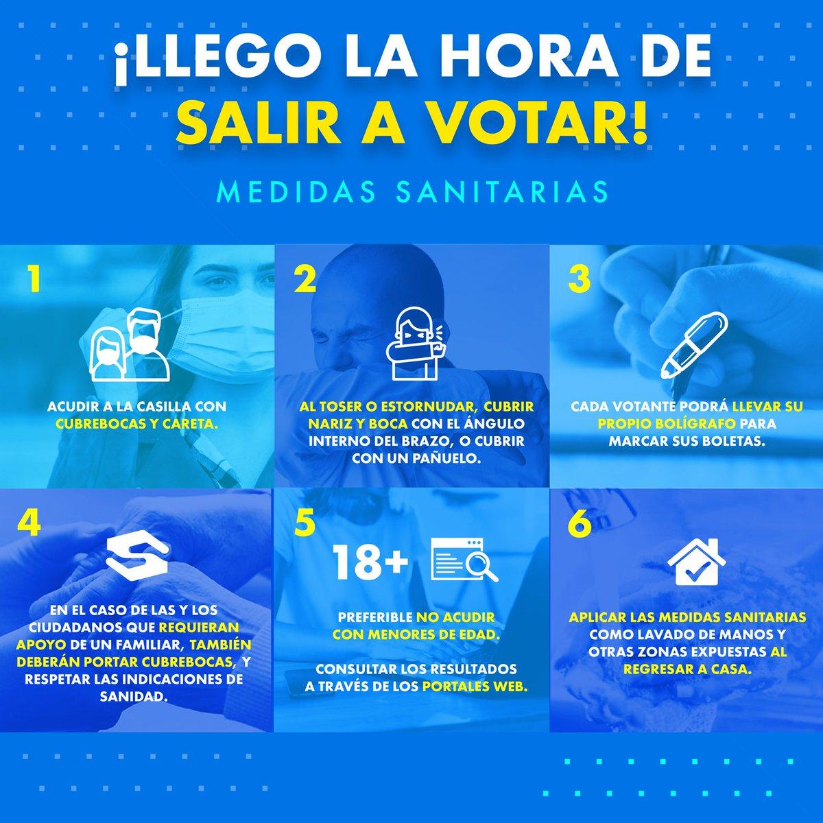 ⚠️Este 18 de Octubre tenemos una cita para pintar #Coahuila e #Hidalgo de azul.  Te dejamos una serie de recomendaciones para poder asistir a votar🗳 https://t.co/bZHfO9tr7h