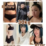 カッコよくて理想的。人は1年間で30kgの減量をするとこうなる。