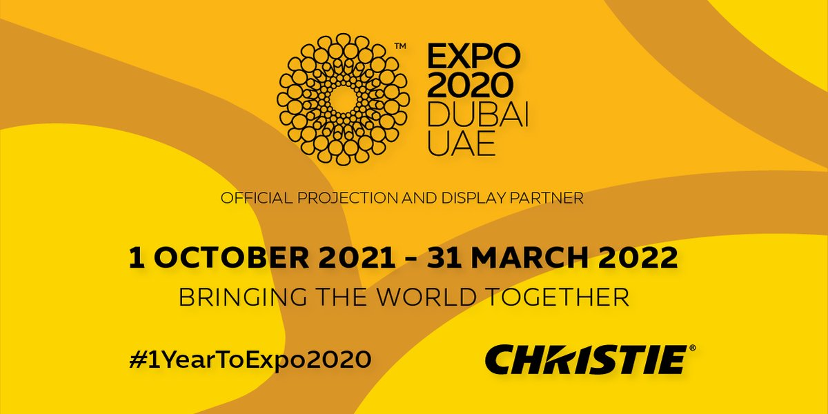 Great things can happen when we bring the world together!   @Expo2020Dubai   1 October 2021 – 31 March 2022  As a proud official partner of #Expo2020 #Dubai, we're delighted to celebrate this one year to go milestone.  Learn more > https://t.co/SS1MUfqOO0 #1YeartoExpo2020 #UAE https://t.co/3QteQq0tgP