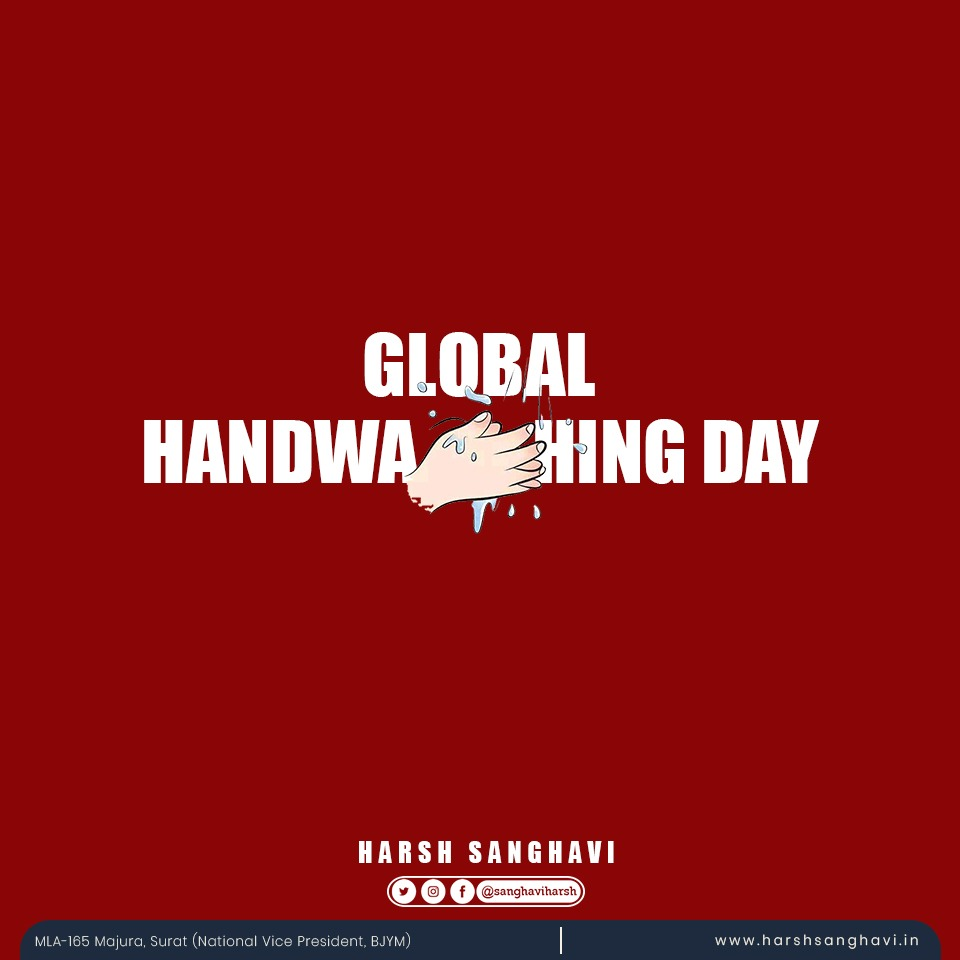 Clean Hands are a sign of Good Health On this #handwashingday, lets take a pledge to wash hands regularly and aware people about the importance of washing hands especially during this COVID Times. #GlobalHandwashingDay