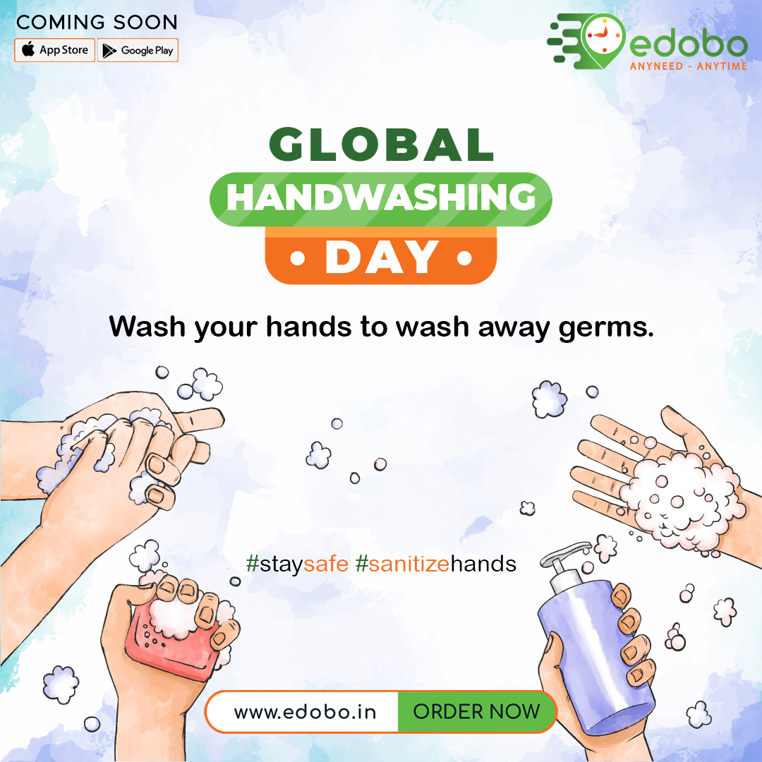 This day is about increasing awareness about physical hygiene, promote a healthy community and reduce transmission of diseases.   #InternationalHandWashingDay #physicalhygiene #handwashing #sanitizehands #SafeHands #cleanyourhands #hardinedobo #grocerystore #buygroceryonline