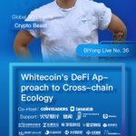 Image for the Tweet beginning: Whitecoin's DeFi Approach to Cross-chain