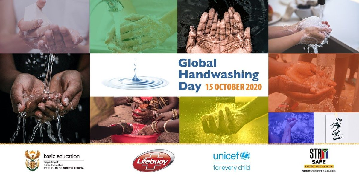 Good morning Mzansi 🇿🇦. Today we join the world in marking #GlobalHandwashingDay2020, an annual global advocacy day dedicated to increase awareness and understanding about the importance of #handwashing with soap.#H4Handwashing [Thread]