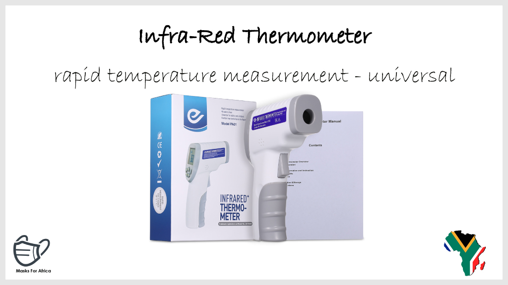 Infrared Thermometer  * rapid temperature measurement * universal * MOQ applies  #MasksForAfrica #PPE #Thermometer #infrared #healthcare #health #Medicare #ppesupplies #ppeproducts #ppeshortage #SouthAfrica #COVID19 https://t.co/Ut1DtFh6EQ
