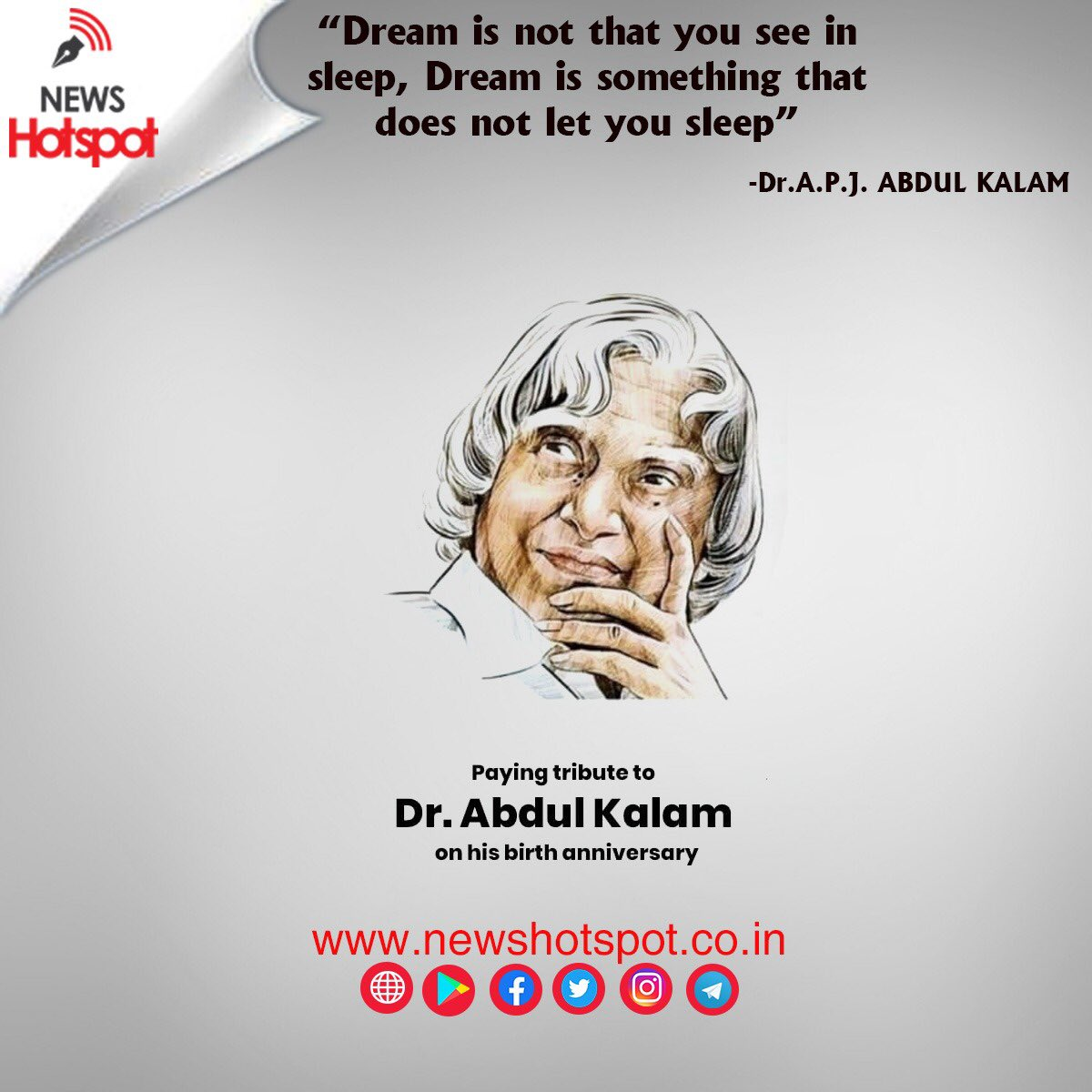 #DrKalam #Kalam #Abdulkalam #HappyBirthdayKalam #newhotspot #WorldPostDay