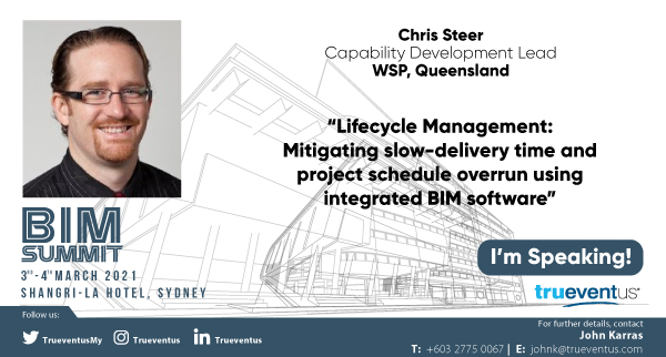 We are looking forward to hearing Chris Steer presentation at the BIM Summit in Sydney March 2021. #bim #construction #wsp https://t.co/gCxSavO3kE