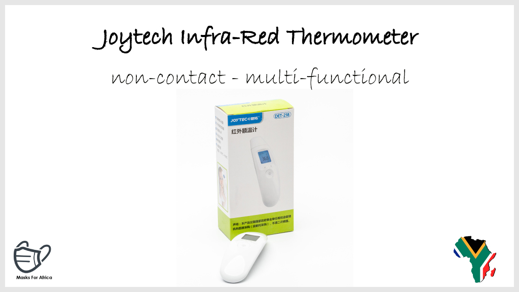 Joytech Infrared Thermometer  * non-contact * multi-functional * MOQ applies  #MasksForAfrica #PPE #Thermometer #temperaturecheck #temperature #temperaturescreening #infrared #healthcare #health #Medicare #ppesupplies #ppeproducts #ppeshortage #SouthAfrica #COVID19 https://t.co/fOWIgGdgbE
